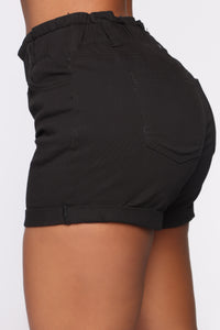 Always On My Mind Denim Shorts - Black