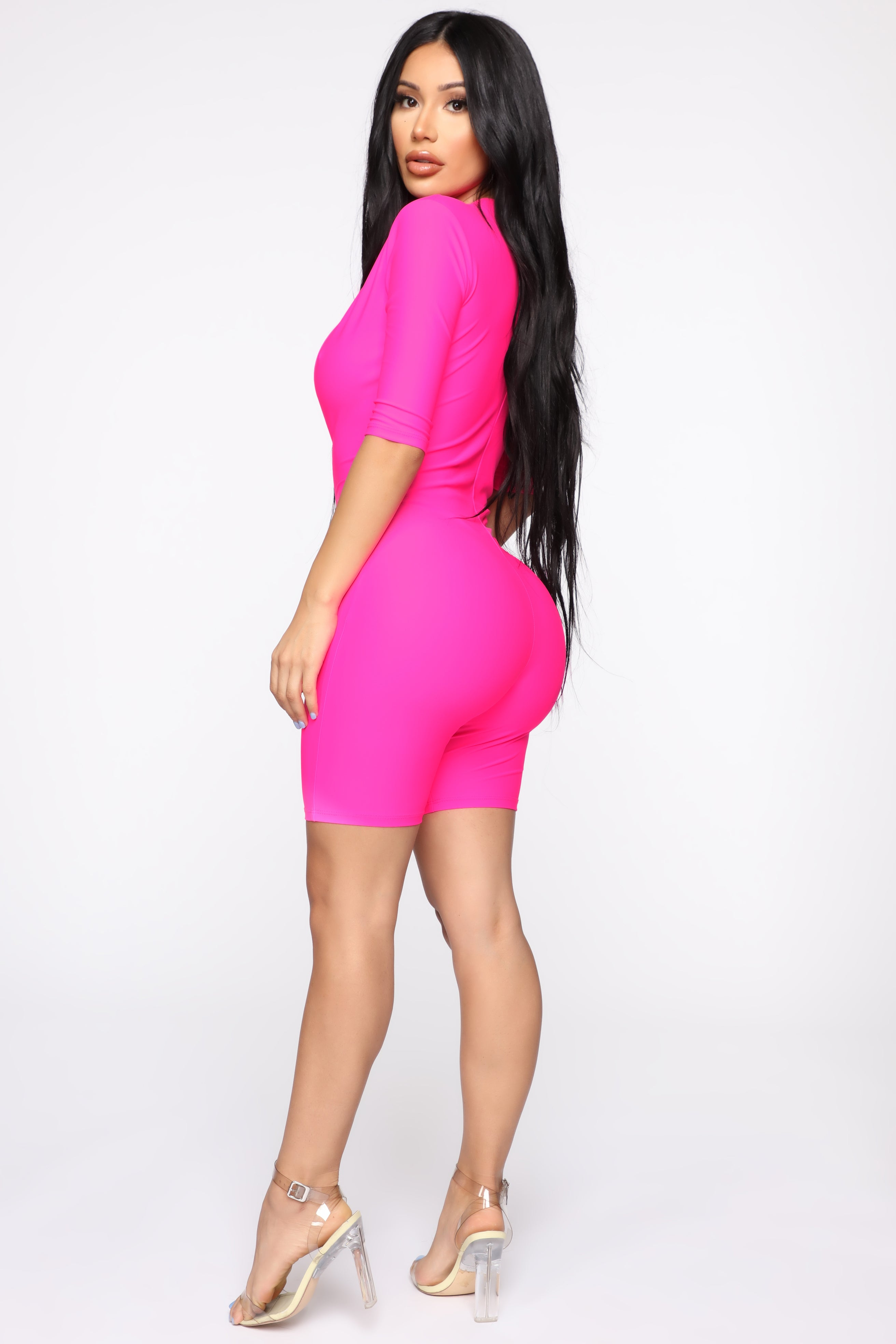 1b95c84728098 Electric Mood Romper - Hot Pink