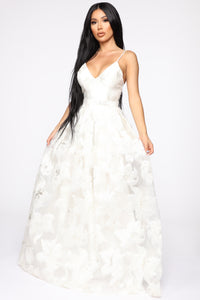 Bells Are Ringing Floral Gown - Ivory