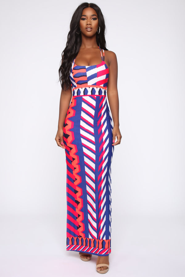 37b3df1b0c5 Sweet Talk Maxi Dress - Royal combo
