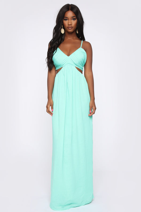 71a4ab0dda2 Shore Walk Cut Out Maxi Dress - Mint