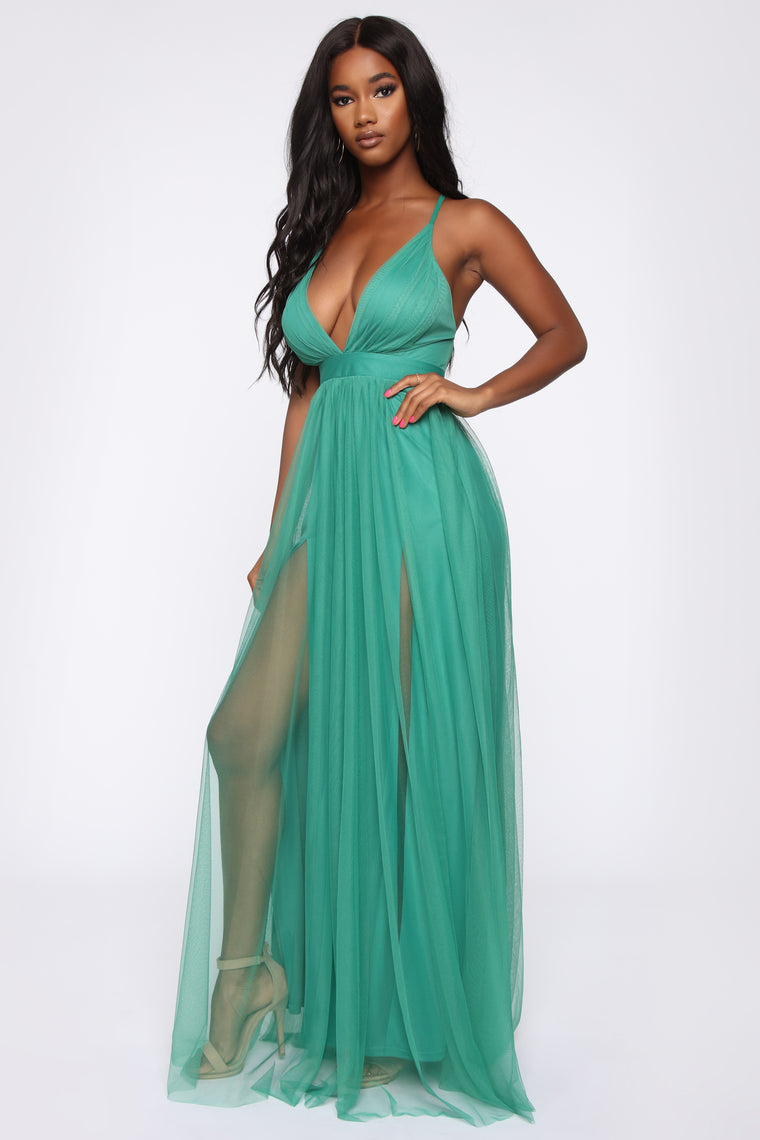 On The Runway Maxi Dress - Emerald