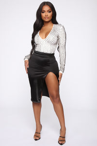 Studded Romance Bodysuit - White