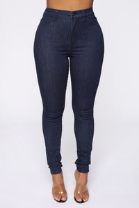 Emma Super Stretch High Rise Skinny Jean - Indigo Angle 2