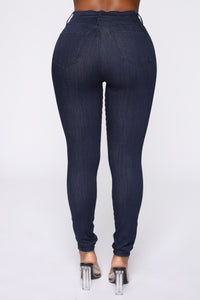 Emma Super Stretch High Rise Skinny Jean - Indigo Angle 6
