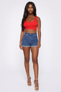 Sonja Crop Top - Red