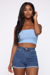 Not A Chance Tube Top - Blue