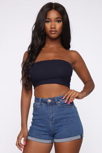 Not A Chance Tube Top - Navy