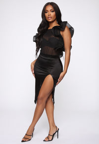 Open To Love Mesh Bodysuit - Black