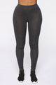 Kim Basic Legging - Charcoal