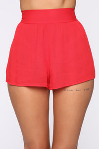 Take Me With You Shorts - Red