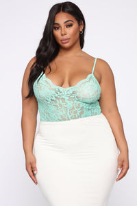 Night After Night II Bodysuit - Mint Angle 8