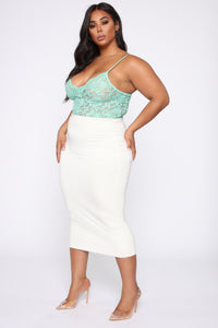 Night After Night II Bodysuit - Mint Angle 11