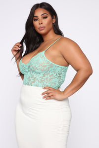 Night After Night II Bodysuit - Mint Angle 10