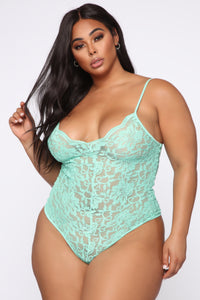 Night After Night II Bodysuit - Mint Angle 7
