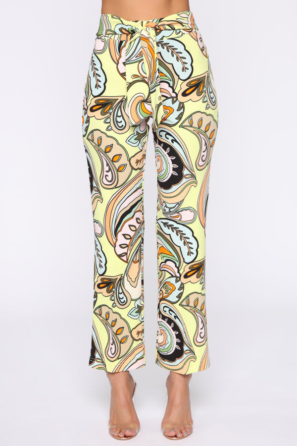 4a21d1f1ff7 World Stop Printed Flare Pants - Tan Multi