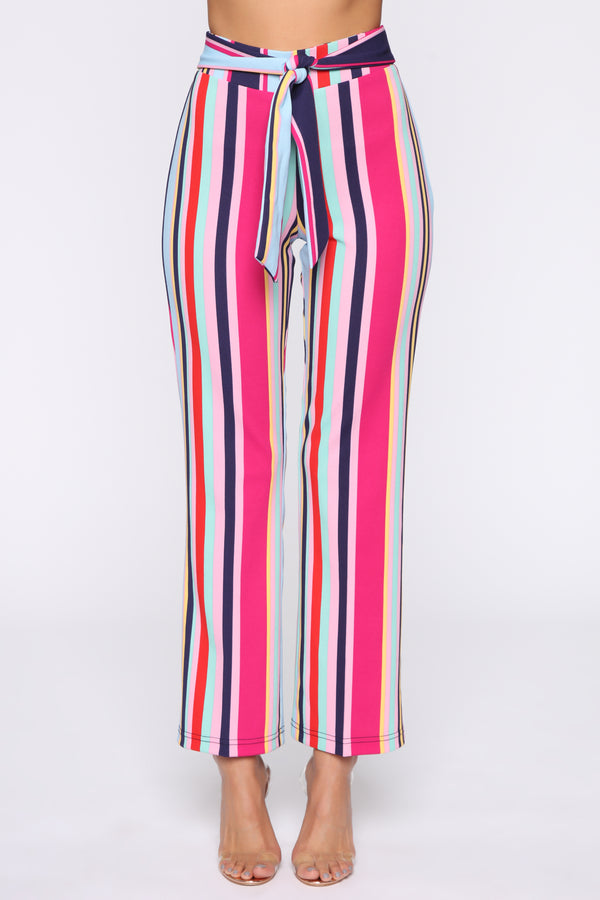 8089cc66a8c World Stop Printed Flare Pants - Pink Multi