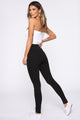 A Little Bit Sweeter Lace Up Pants - Black