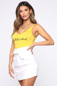 Addicted To You Bodysuit - Mustard