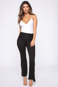 Stripe Me Out Flare Pants - Black Angle 3