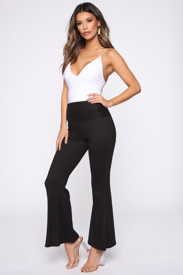 f99e697dbb5 Stripe Me Out Flare Pants - Black