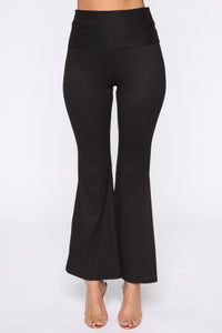 Stripe Me Out Flare Pants - Black Angle 2