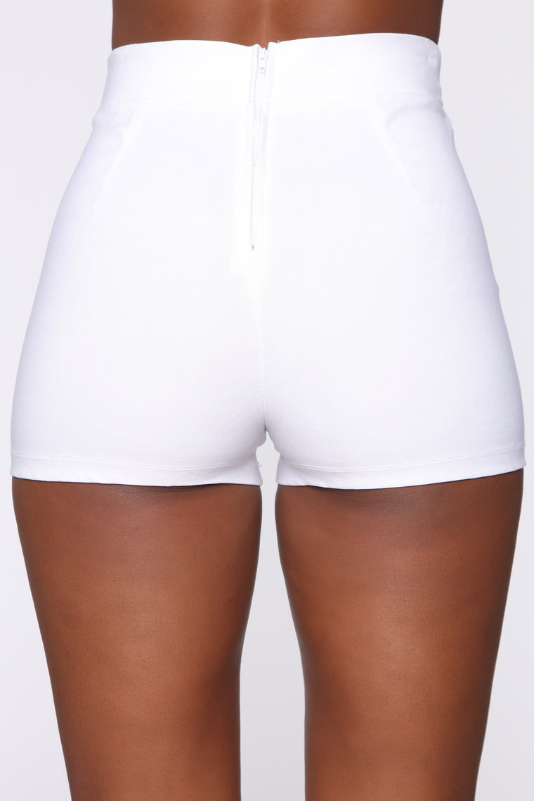 Knot Your Babe Shorts - White