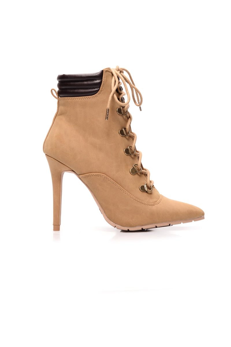 Tiana Lace Up Bootie - Camel