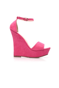 Knew This Day Would Come Wedge - Fuchsia