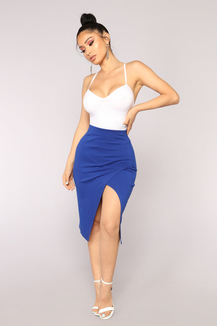 Not A Basic Babe Skirt - Royal