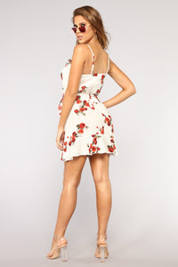 Flower Arrangements Dress - Off White