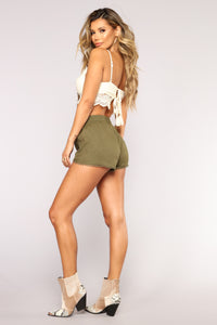 Be His Shorty Shorts - Olive Angle 3