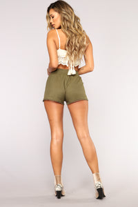 Be His Shorty Shorts - Olive Angle 5