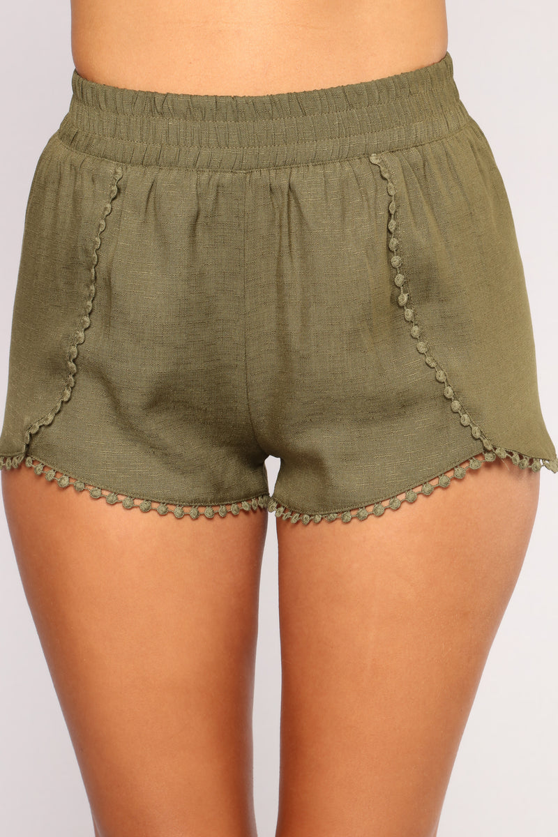 Be His Shorty Shorts - Olive