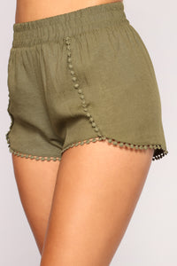 Be His Shorty Shorts - Olive Angle 4