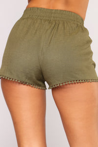 Be His Shorty Shorts - Olive Angle 6