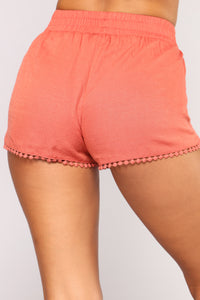Be His Shorty Shorts - Rust