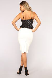 Strut Your Stuff Peplum Top - Black