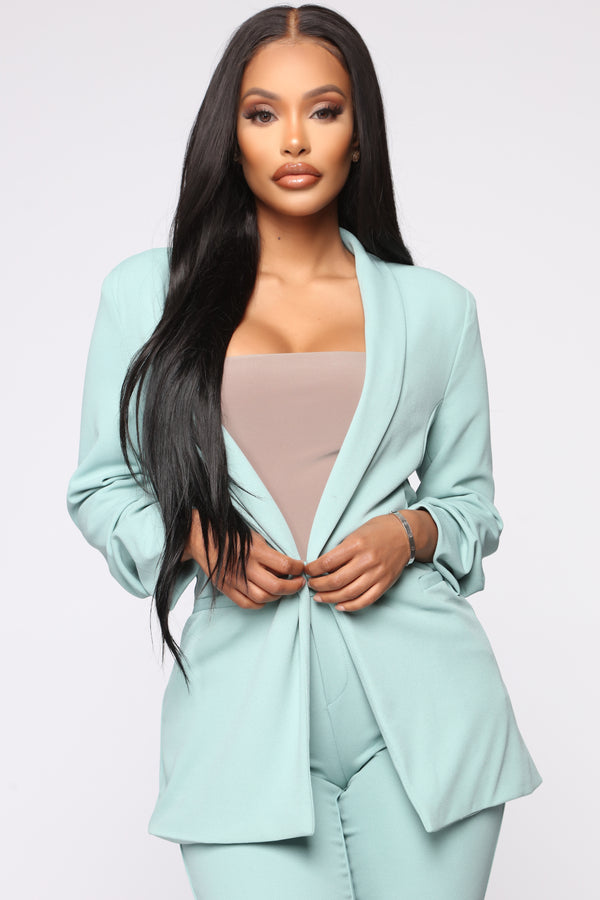 a4943869a635 The Celine Blazer - Dusty Mint