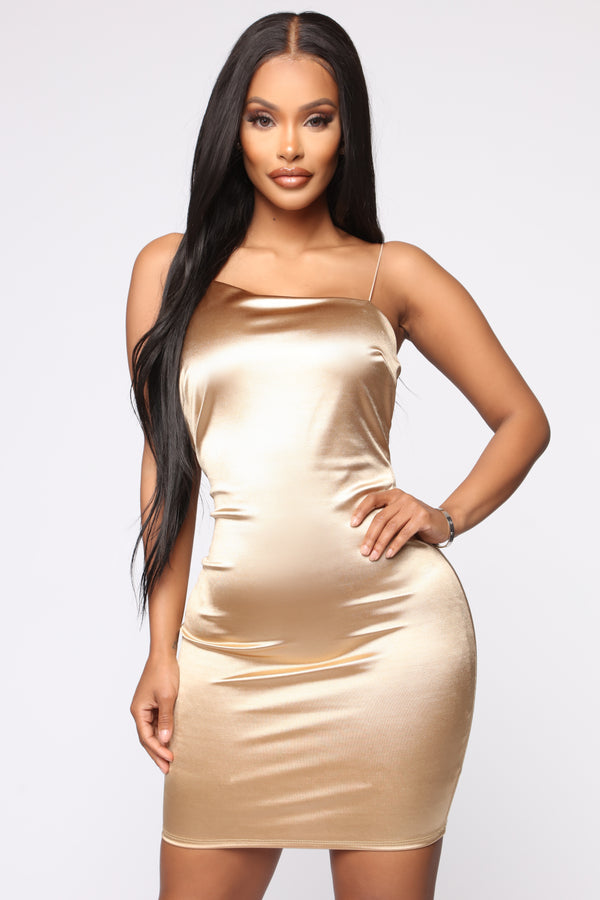 313e72f8ee8 Stay With Me Dress - Gold