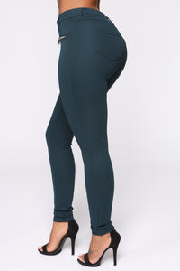 Better Than The Rest Ponte Pants - Spruce