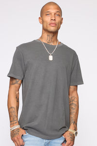 Essential Pigment Wash Short Sleeve Tee - Black Angle 1