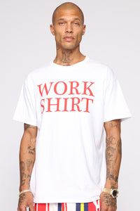 Work Shirt Short Sleeve Tee - White/combo
