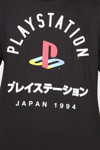 Playstation Short Sleeve Tee - Black/White