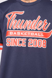 Team Shoot Around Short Sleeve Tee - Blue/combo