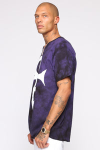 Prince Short Sleeve Tee - Purple/combo
