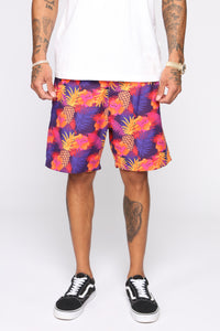 Surfs Up Volley Trunk - Purple/combo Angle 1