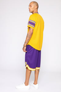 Court Yard Teams Short Sleeve Tee - Yellow/combo
