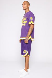 Team Shoot Around Short Sleeve Tee - Purple/combo