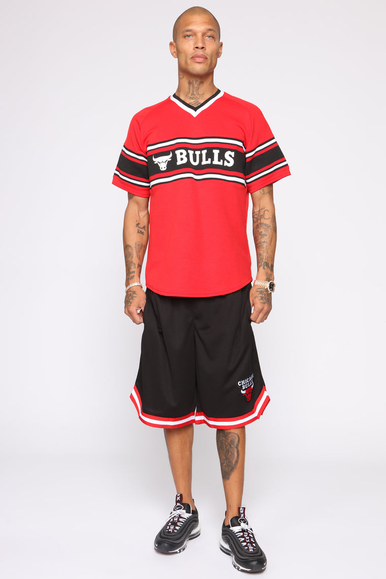 Court Yard Teams Short Sleeve Tee - Red/Black